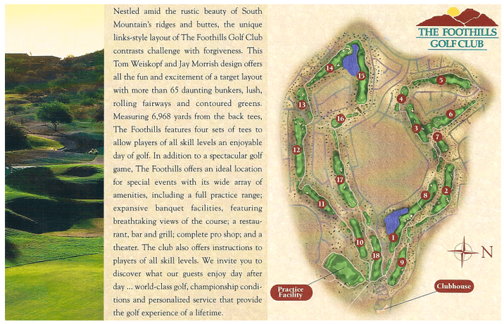 Course overview and description of Foothills Golf Club